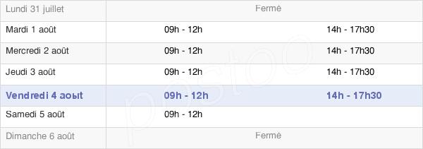 horaires d'ouverture de la Mairie D'Écourt-Saint-Quentin