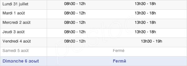 horaires d'ouverture de la Mairie De Laventie