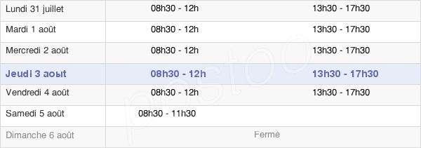 horaires d'ouverture de la Mairie De Givenchy-Lès-La-Bassée