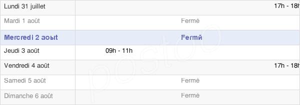 horaires d'ouverture de la Mairie De Rollot