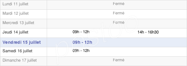 horaires d'ouverture de la Mairie De Drouvin-Le-Marais