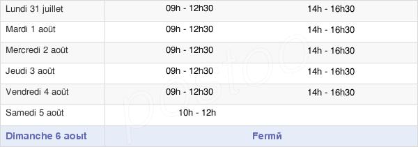 horaires d'ouverture de la Mairie De Pont-L'Évêque