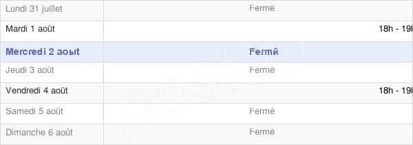 horaires d'ouverture de la Mairie De Buire-Courcelles