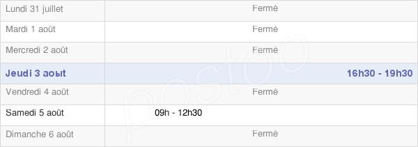horaires d'ouverture de la Mairie De Rosel