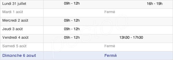 horaires d'ouverture de la Mairie D'Esquay-Notre-Dame