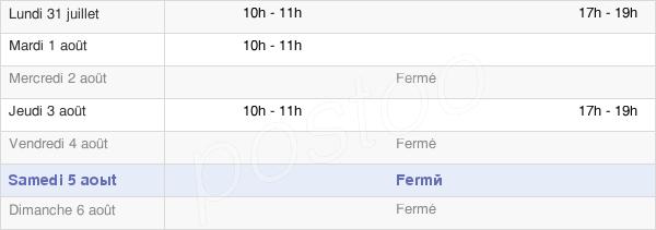 horaires d'ouverture de la Mairie De Villons-Les-Buissons