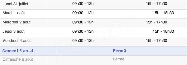 horaires d'ouverture de la Mairie De Démouville