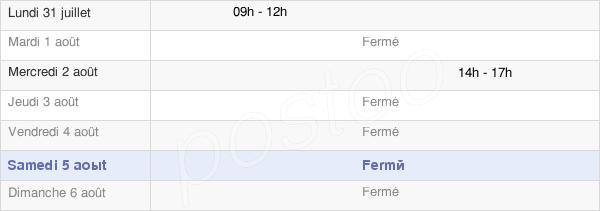 horaires d'ouverture de la Mairie De Saint-Pierre-Tarentaine