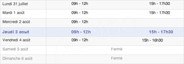 horaires d'ouverture de la Mairie De Vassy