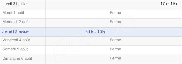 horaires d'ouverture de la Mairie De Clarbec