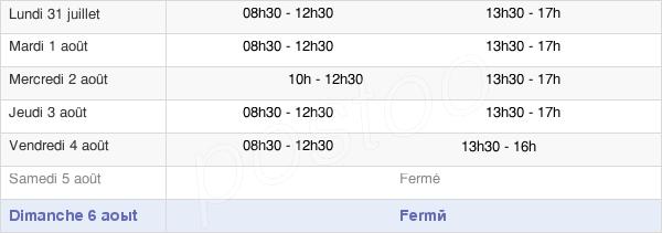 horaires d'ouverture de la Mairie De Rivery