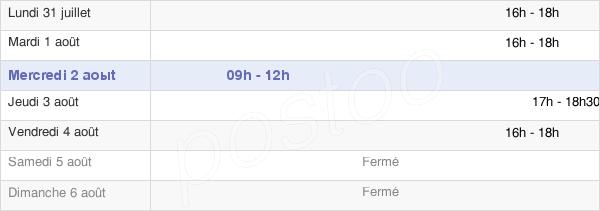 horaires d'ouverture de la Mairie De Thaon