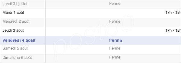 horaires d'ouverture de la Mairie De Pargny
