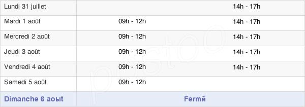 horaires d'ouverture de la Mairie De Merville-Franceville-Plage