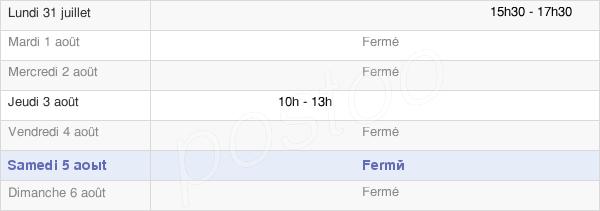 horaires d'ouverture de la Mairie De Burcy