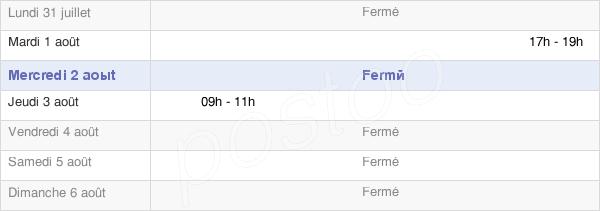horaires d'ouverture de la Mairie De Saint-Loup-Hors