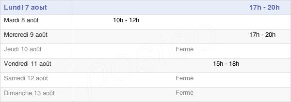 horaires d'ouverture de la Mairie D'Hubert-Folie