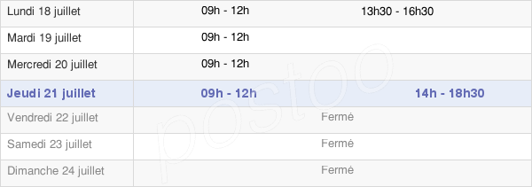 horaires d'ouverture de la Mairie De Saint-Désir