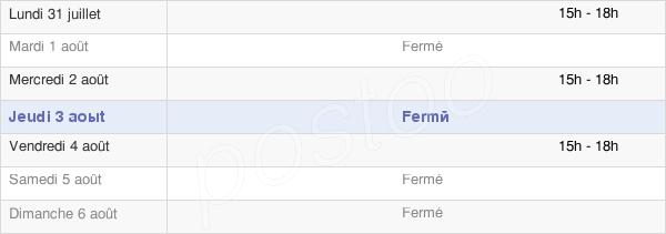 horaires d'ouverture de la Mairie De Touffréville
