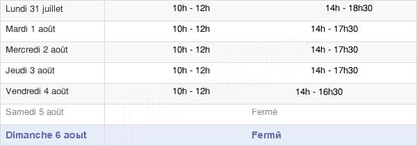horaires d'ouverture de la Mairie De Bénouville