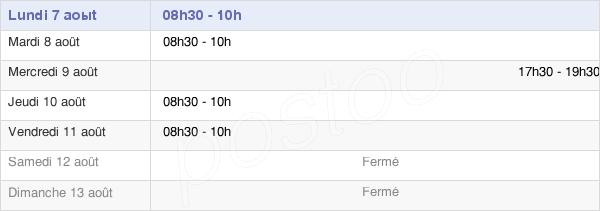 horaires d'ouverture de la Mairie De Putot-En-Bessin