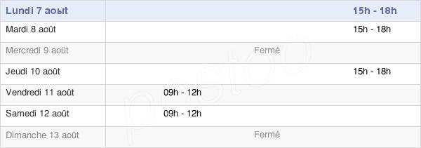 horaires d'ouverture de la Mairie D'Hangest-Sur-Somme
