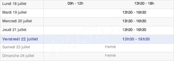 horaires d'ouverture de la Mairie De Mathieu