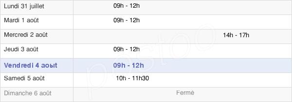 horaires d'ouverture de la Mairie De Dozulé