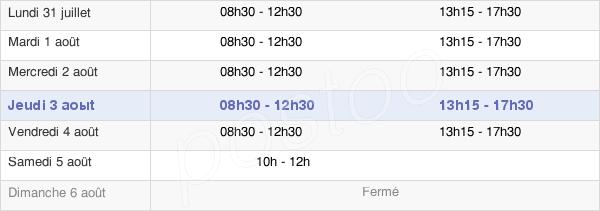 horaires d'ouverture de la Mairie De Mondeville