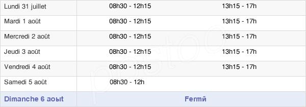 horaires d'ouverture de la Mairie De Cormelles-Le-Royal