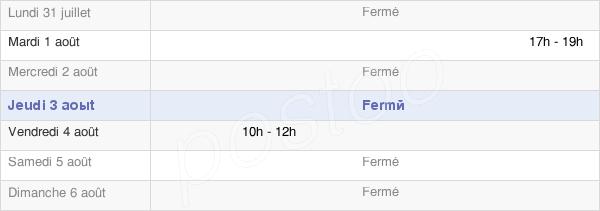 horaires d'ouverture de la Mairie De Frémontiers