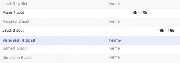 horaires d'ouverture de la Mairie De Gonneville-Sur-Mer