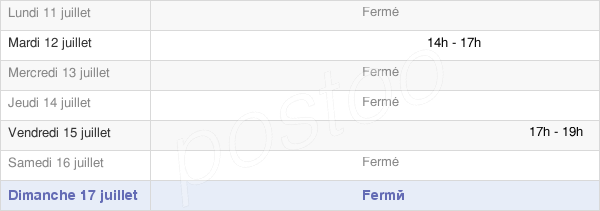 horaires d'ouverture de la Mairie De Brémoy