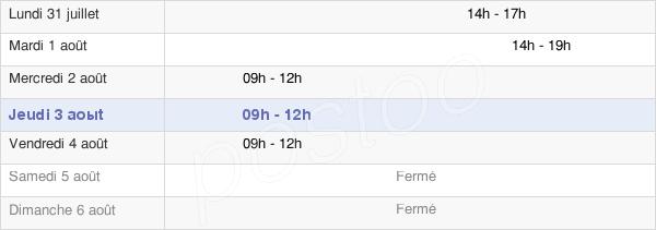 horaires d'ouverture de la Mairie De Monchy-Lagache