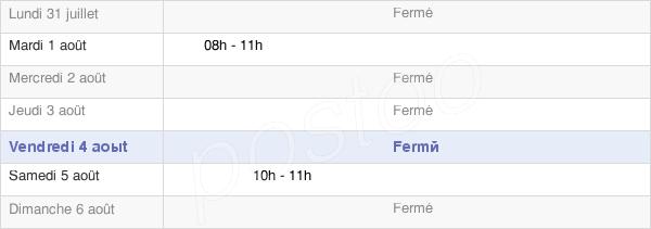 horaires d'ouverture de la Mairie De Louvières
