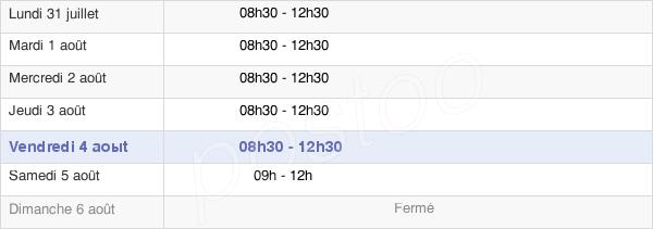 horaires d'ouverture de la Mairie D'Épron