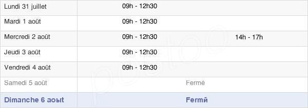 horaires d'ouverture de la Mairie De Creully