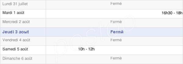 horaires d'ouverture de la Mairie De Saint-Jean-Le-Blanc
