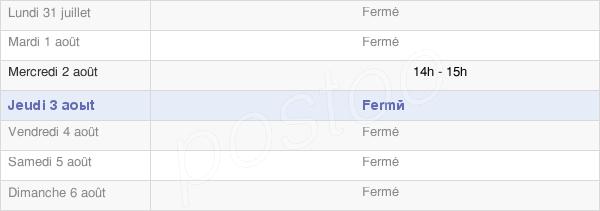 horaires d'ouverture de la Mairie D' Epaumesnil