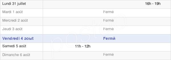 horaires d'ouverture de la Mairie De Condé-Sur-Seulles