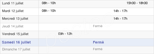 horaires d'ouverture de la Mairie D'Hérouvillette