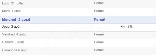 horaires d'ouverture de la Mairie De Saint-Denis-Maisoncelles