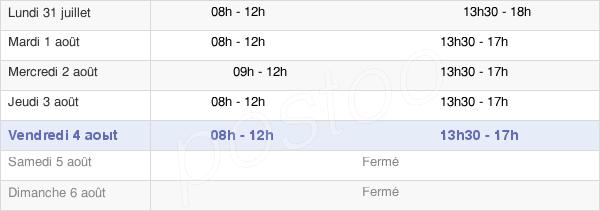 horaires d'ouverture de la Mairie De Frénouville