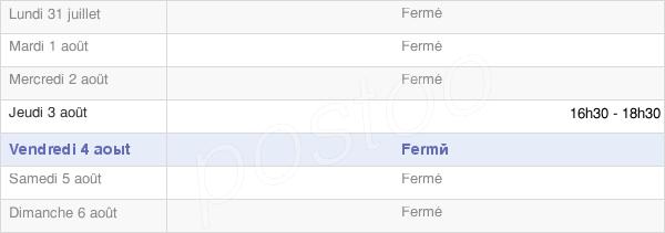 horaires d'ouverture de la Mairie De Pierrefitte-En-Auge