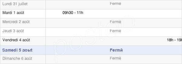 horaires d'ouverture de la Mairie De Bouchoir