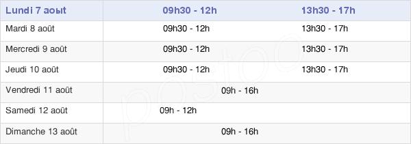 horaires d'ouverture de la Mairie De Villers-Sur-Mer