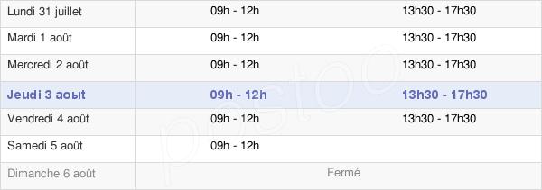 horaires d'ouverture de la Mairie De Giberville