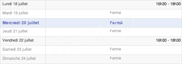 horaires d'ouverture de la Mairie D'Audrieu