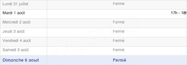 horaires d'ouverture de la Mairie Du Fournet