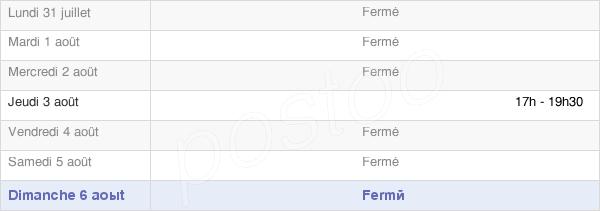 horaires d'ouverture de la Mairie De Formentin